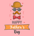 greeting card for father card vector image