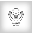 massage and spa therapy logo template thin vector image