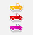 realistic design element car pickup vector image