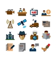 reporter icons vector image