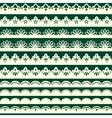 Set of vintage seamless borders vector image