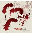 Splattered blood stains set 2 vector image