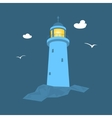 Lighthouse at Sea vector image