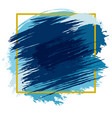 Blue spots with frame vector image