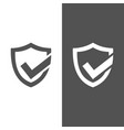 active protection shield icon on black and white vector image