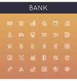 Bank Line Icons vector image