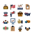 election icons vector image