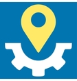 Service Map Marker Icon vector image