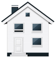 Boarded two-storeyed suburban townhouse vector image vector image
