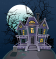 Halloween witch magic house vector image vector image