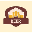 beer glasses drink label vector image