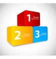 Colorful numbered cubes vector image