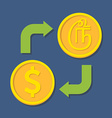 Currency exchange Dollar and Tamil Rupee vector image