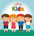 happy little kids design vector image