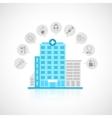 Medical building flat vector image