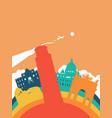 travel italy world landmark landscape vector image