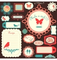 Cute scrapbook childish set vector image