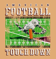 touchdown football rules vector image vector image