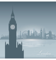 London England skyline city silhouette Background vector image vector image