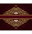 greeting card with golden frame vector image vector image