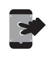 Zoom in smart phone vector image vector image