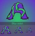 Halloween decorative alphabet - A letter vector image