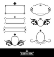 Set of decorative frames and borders vector image