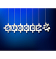 puzzle pieces with letters composes word SUCCESS vector image vector image