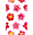 Watercolor painted pattern with camellia vector image vector image