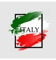 Watercolor frame of Italy color vector image