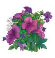 art flowers-1 vector image