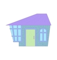 Blue cottage icon cartoon style vector image