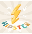 Design with lightning in hipster style vector image