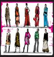 Fashion illustration vector image
