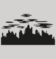 night city dark urban scape night cityscape in vector image