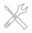 pictogram support repair tools sign icon vector image