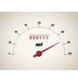 Speedometer on white background vector image