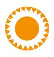 summer sun weather icon vector image