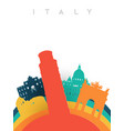 travel italy 3d paper cut world landmarks vector image vector image