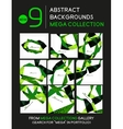 Mega collection of geometric unusual backgrounds vector image vector image