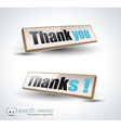 thank you banners vector image vector image