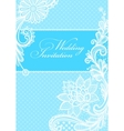 Wedding invitations with vintage lace background vector image