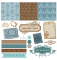 vintage ornamental elements vector image vector image