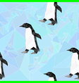 south pole seamless pattern with penguin vector image