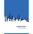 cityscape blue vector image