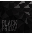 Black friday Sale Poster Triangular Low Poly Dark vector image