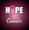 Cancer design over purple background vector image