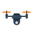 drone flat icon fly and copter vector image