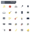 flat music icons set vector image