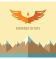 Forward to topsTourism mountain climbing vector image